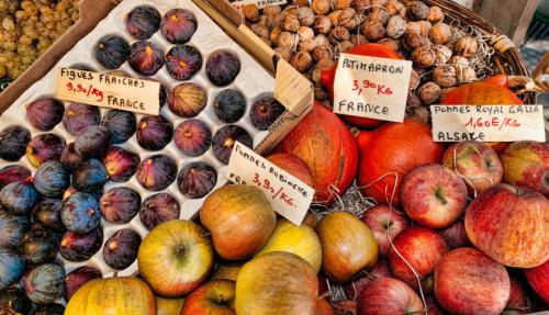 Wonderful fruit, veg, cheese and meat markets